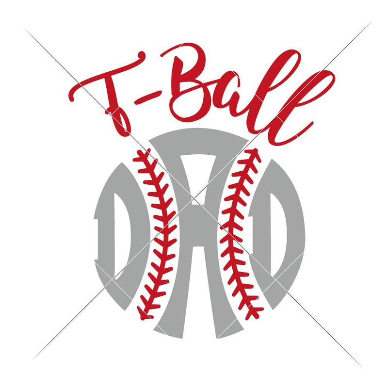 T-Ball Dad Svg Png Dxf Eps Svg Dxf Png Cutting File