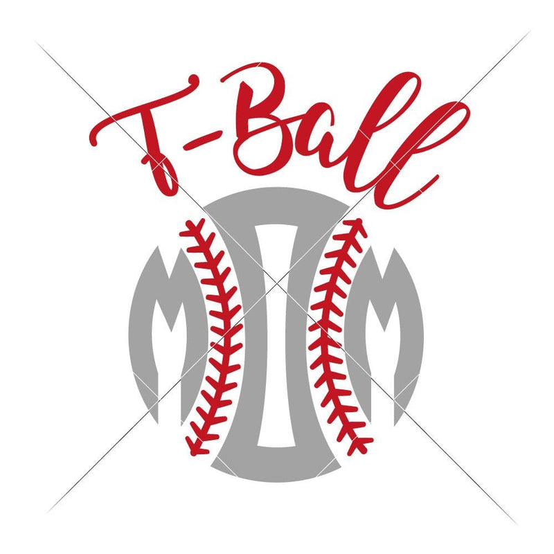 T-Ball Mom Svg Png Dxf Eps Svg Dxf Png Cutting File