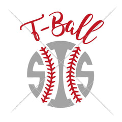 T-Ball Sis Svg Png Dxf Eps Svg Dxf Png Cutting File