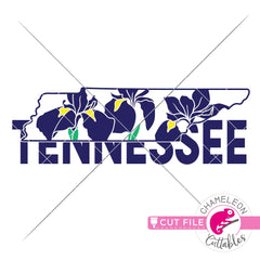Tennessee state flower iris svg png dxf eps jpeg SVG DXF PNG Cutting File