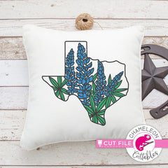 Texas Bluebonnets Layered Svg Png Dxf Eps Svg Dxf Png Cutting File