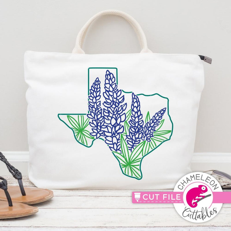 Texas Bluebonnets Separated Svg Png Dxf Eps Svg Dxf Png Cutting File