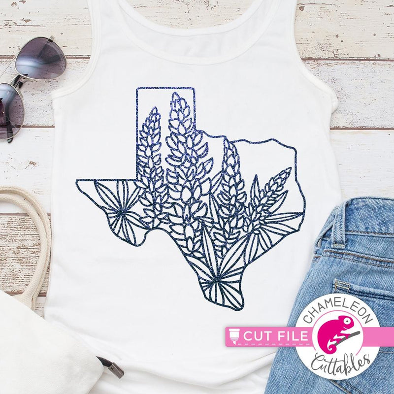 Texas Bluebonnets Svg Png Dxf Eps Svg Dxf Png Cutting File