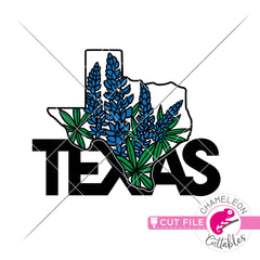 Texas state flower bluebonnet svg png dxf eps jpeg SVG DXF PNG Cutting File