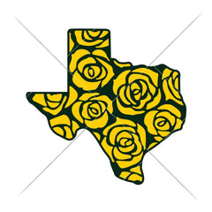 Texas Yellow Roses Svg Png Dxf Eps Svg Dxf Png Cutting File