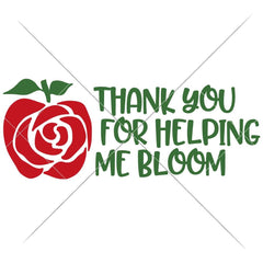 Thank You For Helping Me Bloom Apple Flower Svg Png Dxf Eps Svg Dxf Png Cutting File
