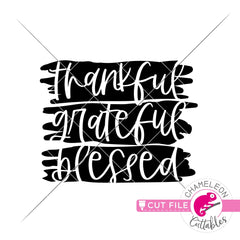 Thankful Grateful Blessed Thanksgiving svg png dxf eps jpeg SVG DXF PNG Cutting File