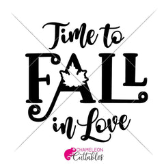 Time To Fall In Love Svg Png Dxf Eps Svg Dxf Png Cutting File