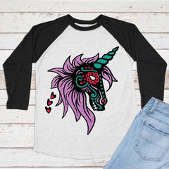 Unicorn Sugar Skull Svg Png Dxf Eps Svg Dxf Png Cutting File