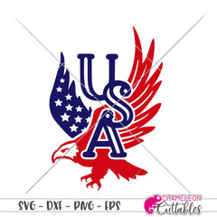 Usa American Eagle Svg Png Dxf Eps Svg Dxf Png Cutting File