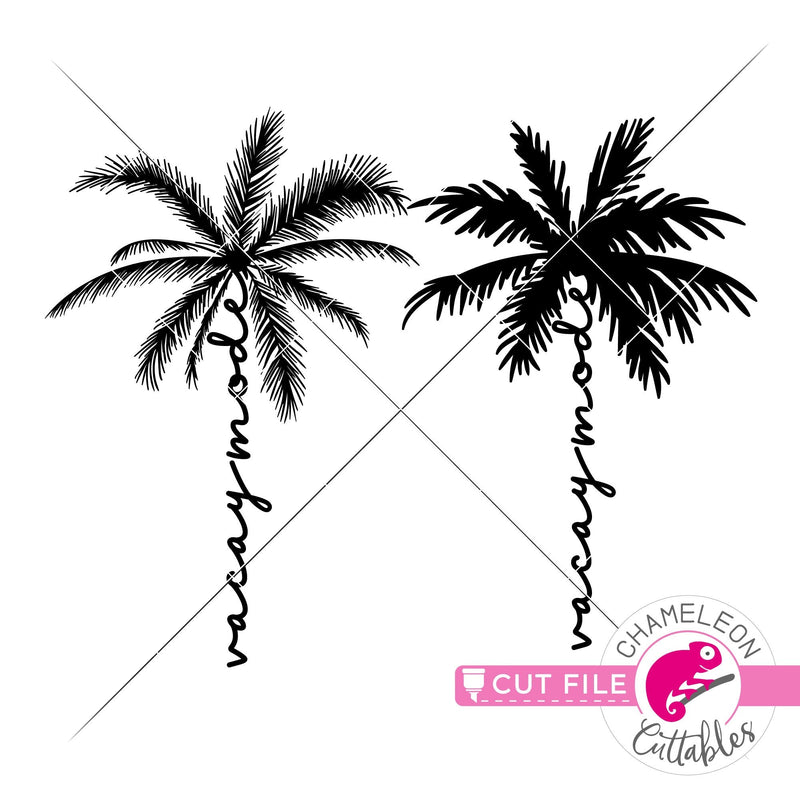 Vacay mode palm tree svg png dxf eps jpeg SVG DXF PNG Cutting File