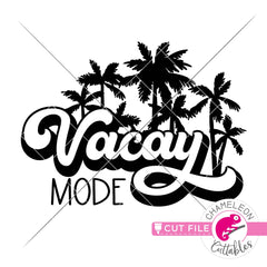 Vacay Vibes retro Beach svg png dxf eps jpeg SVG DXF PNG Cutting File