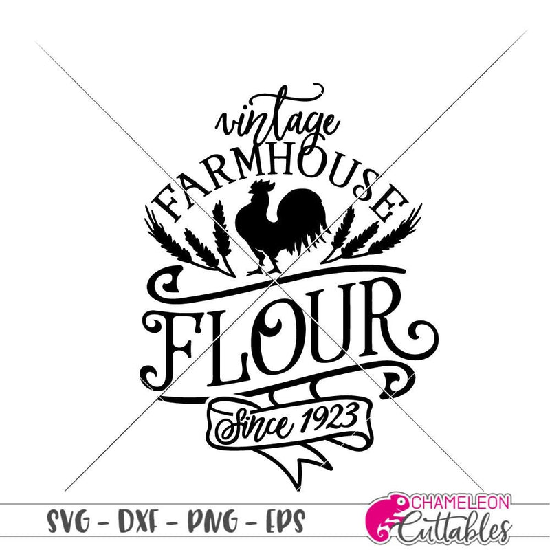 Vintage Farmhouse Flour canister svg png dxf eps SVG DXF PNG Cutting File