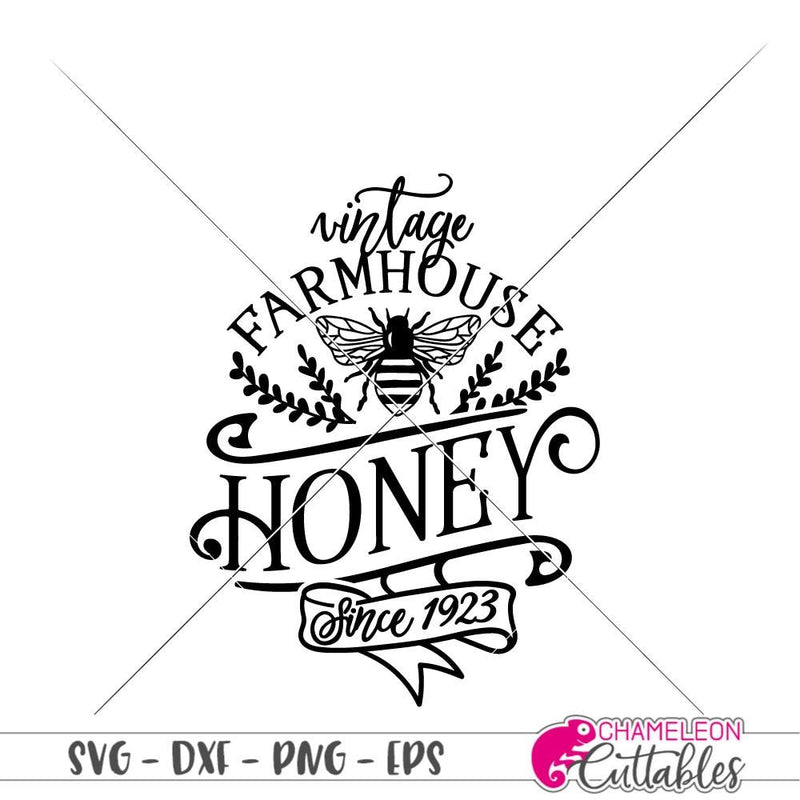 Vintage Farmhouse Honey svg png dxf eps SVG DXF PNG Cutting File