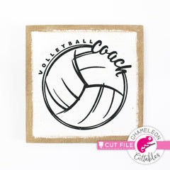 Volleyball Coach Sketch Drawing svg png dxf eps jpeg SVG DXF PNG Cutting File