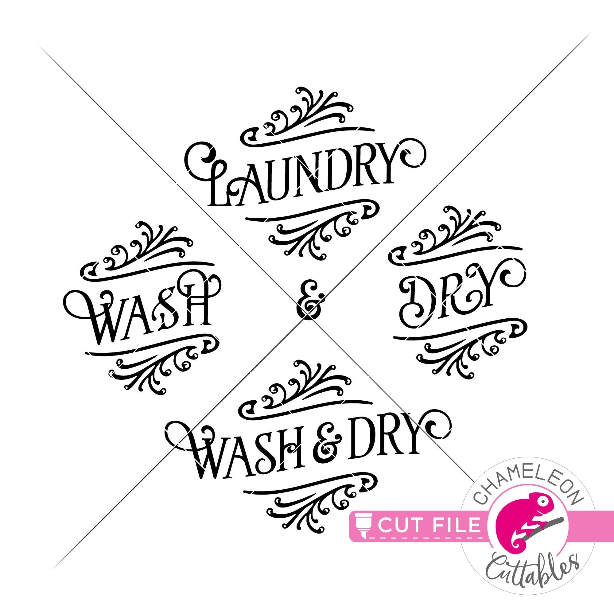 Wash And Dry Laundry Room Svg Png Dxf Eps Jpeg Chameleon Cuttables Llc