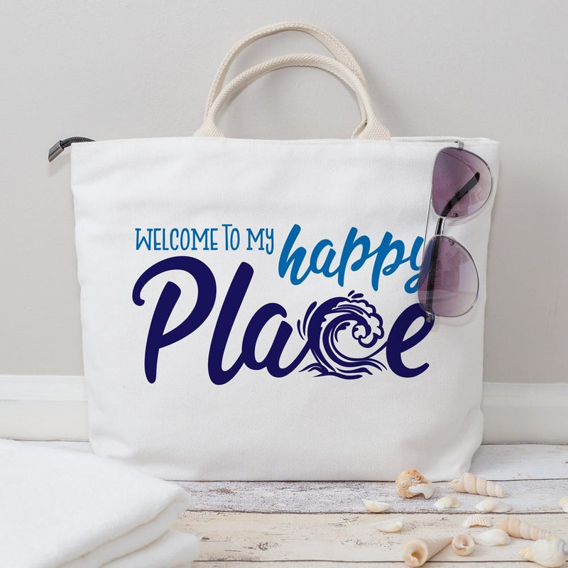 Welcome To My Happy Place Beach Wave Surfing Svg Png Dxf Eps Svg Dxf Png Cutting File
