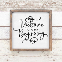 Welcome To Our Beginning Wedding Sign Svg Png Dxf Eps Svg Dxf Png Cutting File