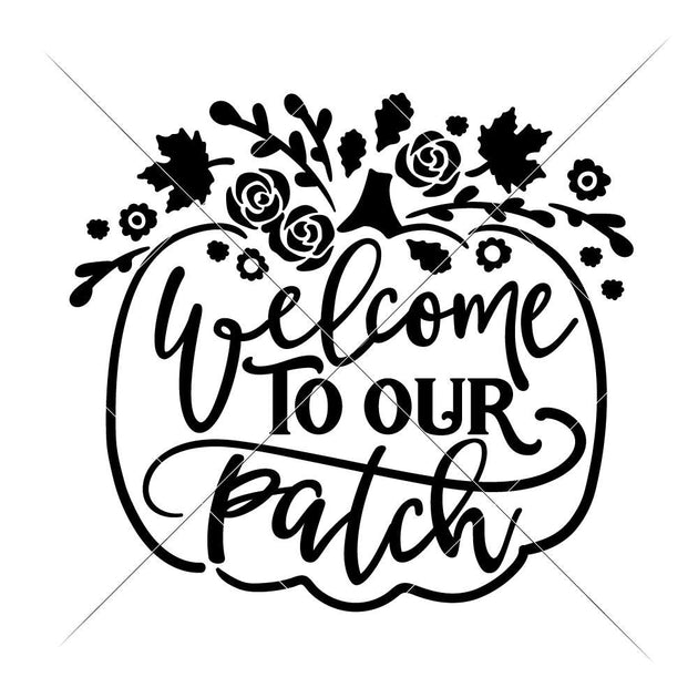 Welcome to our Patch floral pumpkin svg png dxf eps