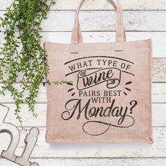 What type of wine pairs best with Monday svg png dxf eps SVG DXF PNG Cutting File