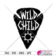 Wild Child Arrowhead svg png dxf eps SVG DXF PNG Cutting File