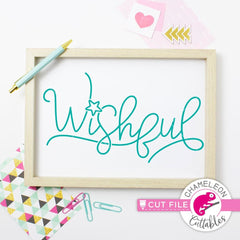 Wishful svg png dxf eps SVG DXF PNG Cutting File