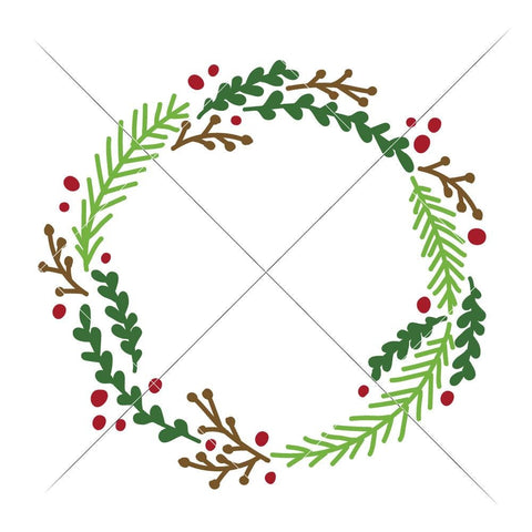 Wreath Christmas svg png dxf eps