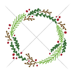 Wreath Christmas Svg Png Dxf Eps Svg Dxf Png Cutting File