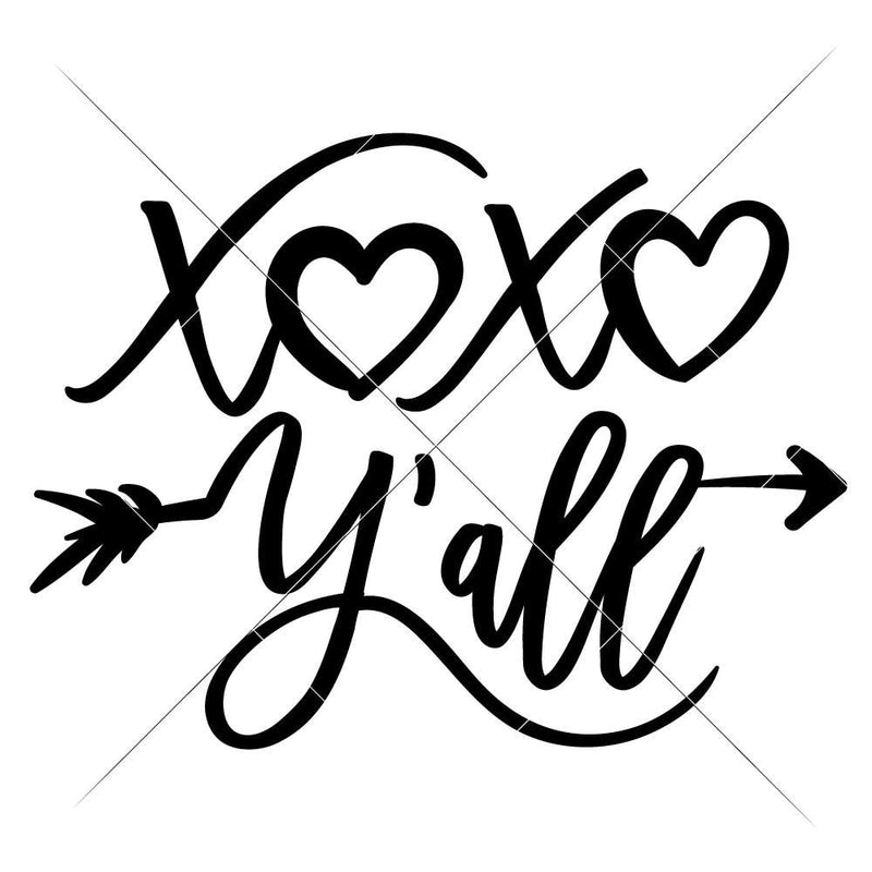 Xoxo Yall Svg Png Dxf Eps Svg Dxf Png Cutting File