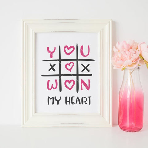 You won my Heart svg png dxf eps