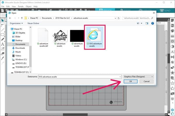 How to open and cut SVG files with Silhouette Studio
