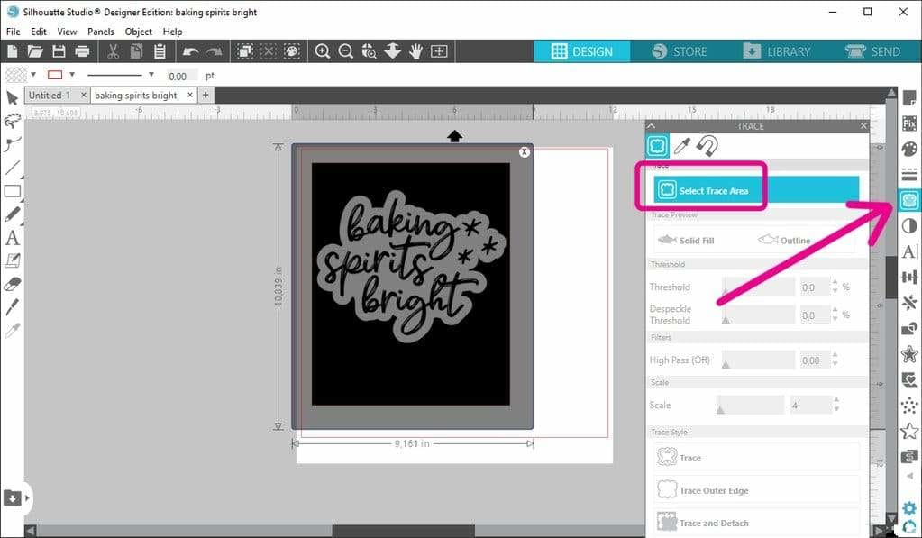 How to trace white objects in Silhouette Studio
