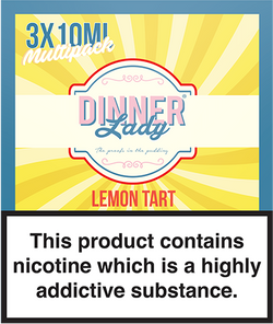 Dinner Lady E-liquids - Lemon Tart Vape flavour