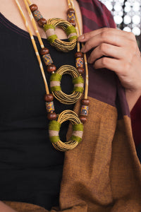 Ochre Ring Layer Neckpiece
