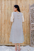 Load image into Gallery viewer, Cerulean Stripe Recess Dress