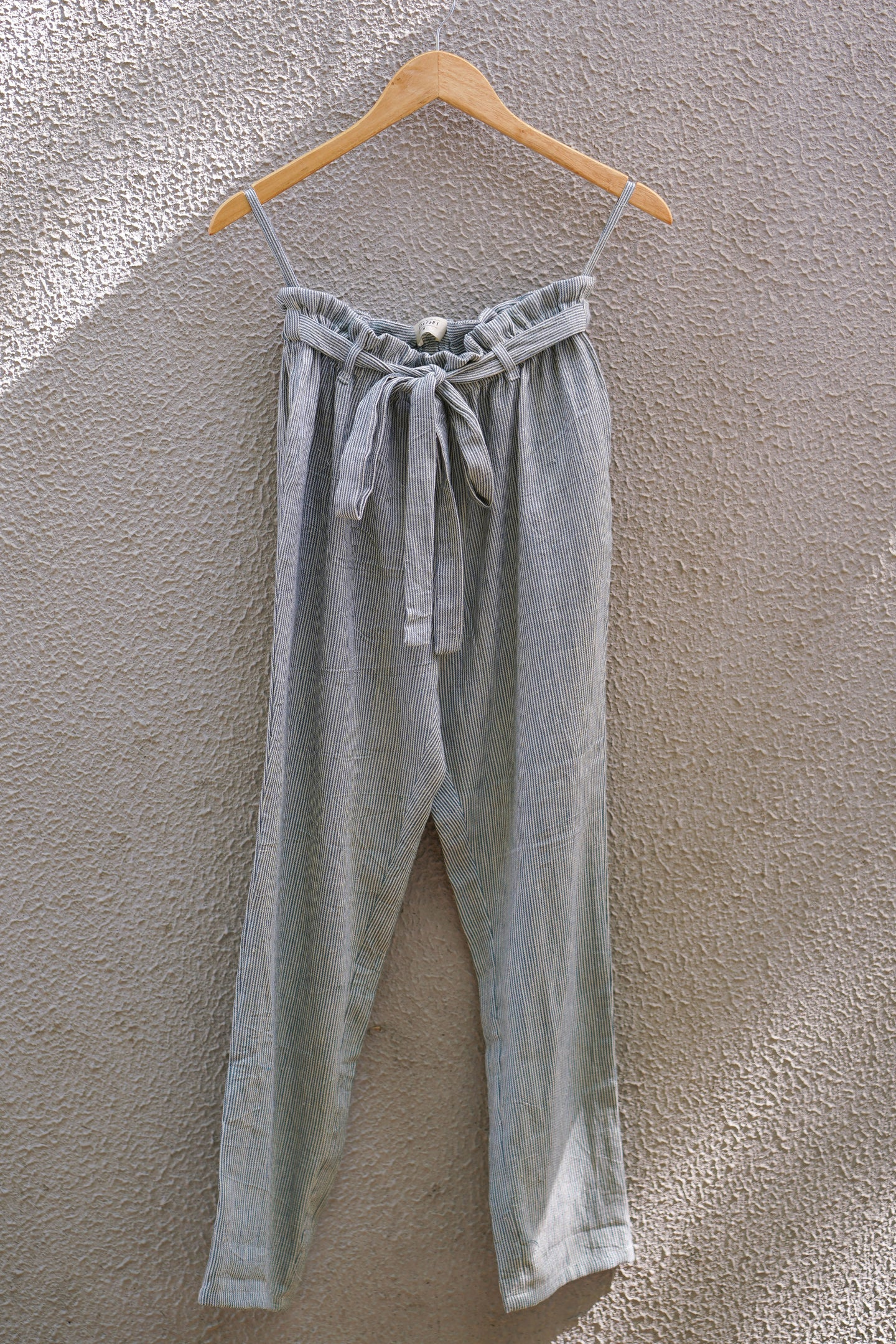 Sea green striped pants