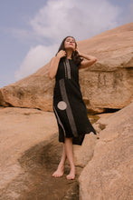 Load image into Gallery viewer, Charcoal Dabu Dress