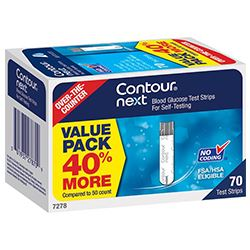 Bayer Contour Next 70 Test Strips