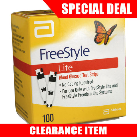 FreeStyle Lite 100 Test Strips [Clearance Pricing]