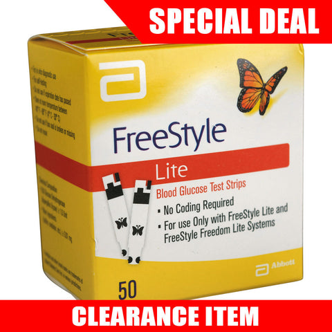 FreeStyle Lite 50 Test Strips [Clearance Pricing]