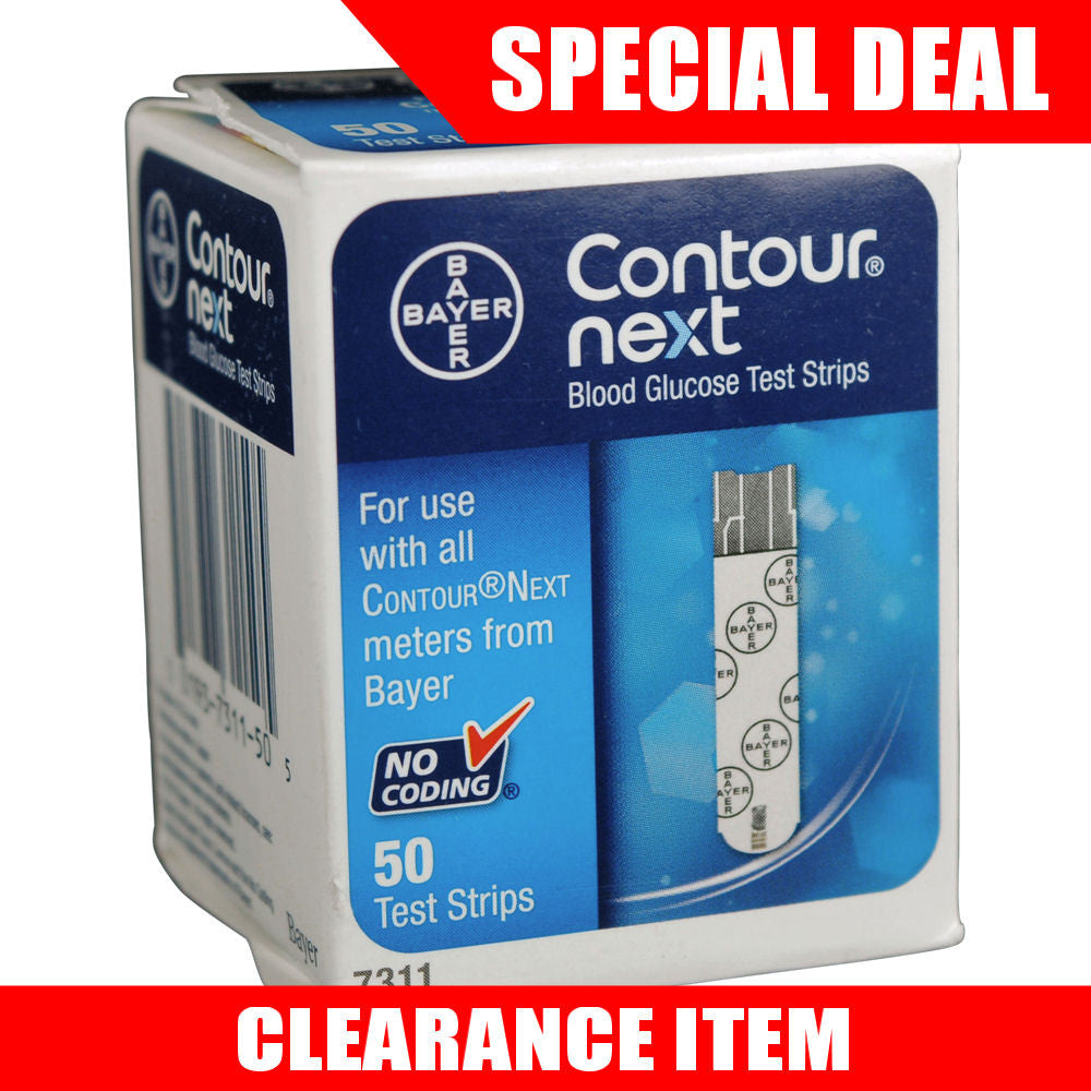 Bayer Contour Next 50 Test Strips [Clearance Pricing]