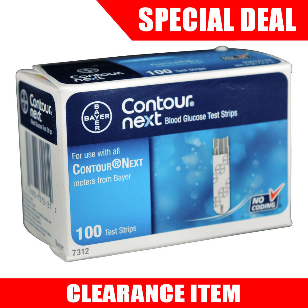 Bayer Contour Next 100 Test Strips [Clearance Pricing]