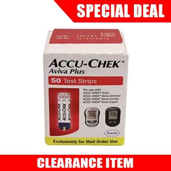 ACCU-CHEK Aviva Plus 50 Mail Order Test Strips [Clearance Pricing]