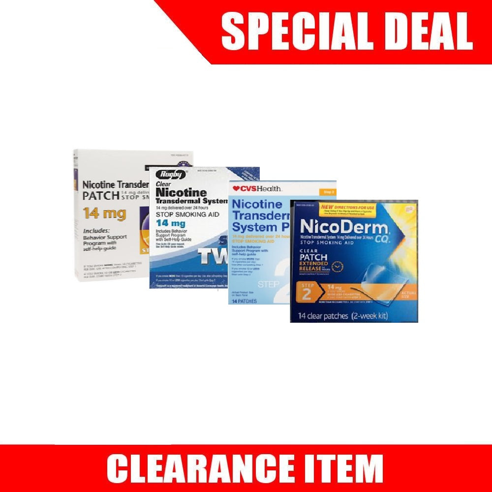 56 Nicotine Patches Step 2 (14mg each) [Clearance Pricing]