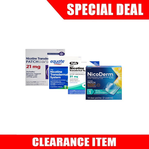 56 Nicotine Patches Step 1 (21mg each) [Clearance Pricing]