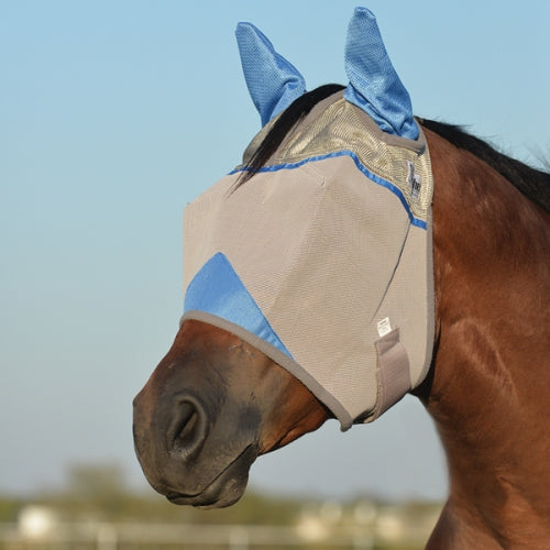 Crusader Fly Mask - Blue Warrior