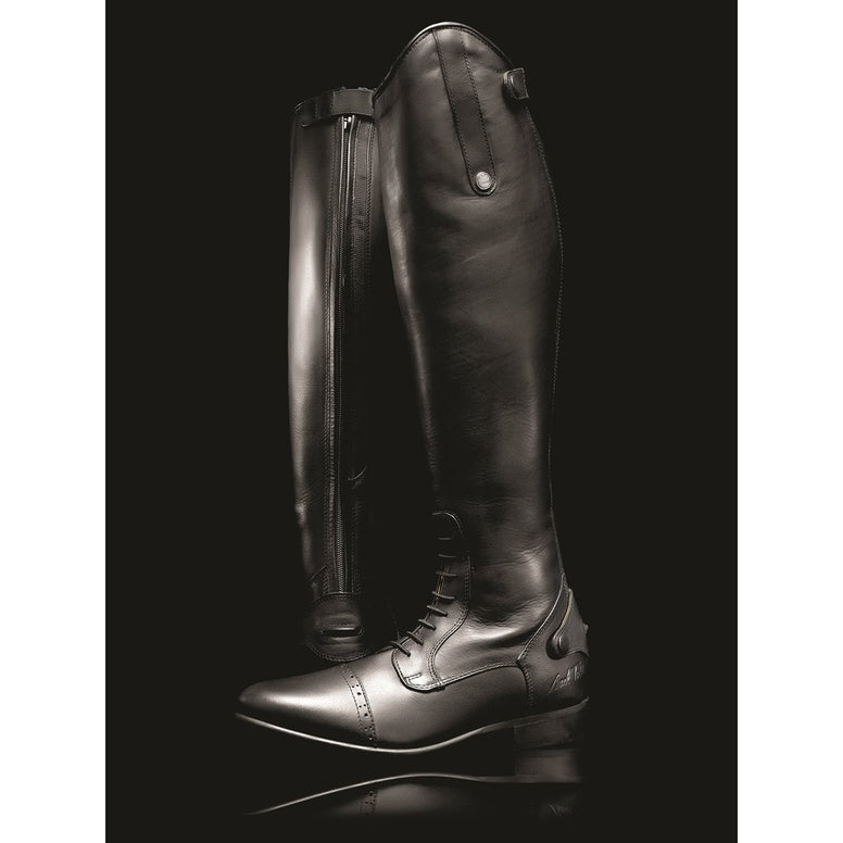 Mark Todd Long Leather Competition Field Boots With Laces