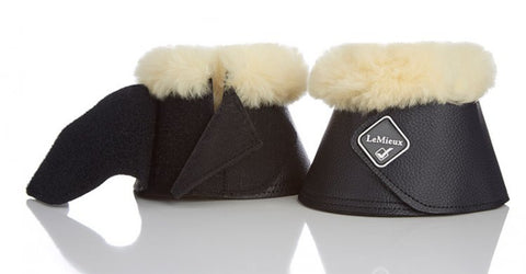 Sheepskin LeMieux WrapRound Leather Over-Reach Boots