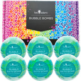6 Eucalyptus Spearmint Bubble Bath Bombs Set - Two Sisters Spa