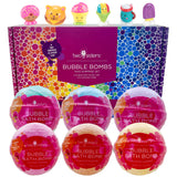 6 Fun Food Character Surprise Bubble Bath Bombs Set